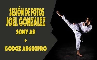 Sesión de fotos a Joel González.